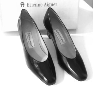 Black leather shoes NWOT